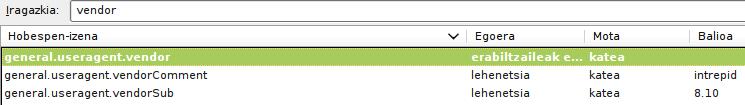 Firefoxen konfigurazioan aldatu beharreko katea arazoa konpontzeko